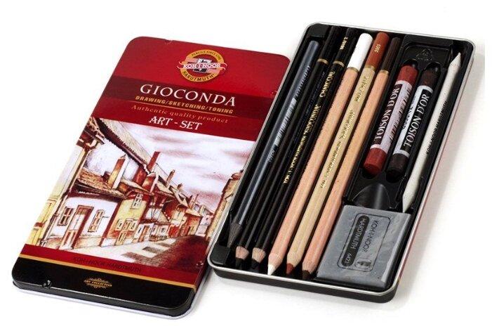 KOH-I-NOOR Набор художественных принадлежностей Gioconda 10 предметов (8890000001PL)