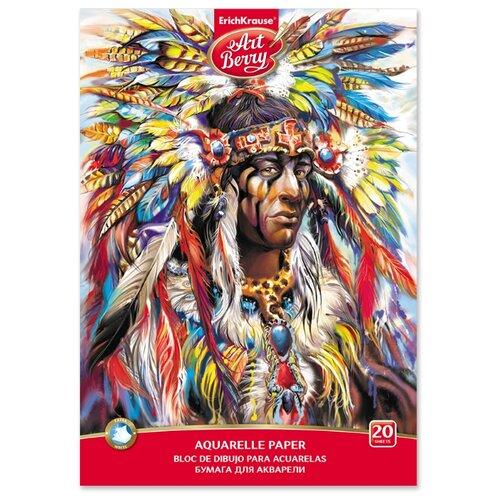 Купить Альбом для акварели ErichKrause Индеец 29.7 х 21 см (A4), 180 г/м², 20 л., Альбомы для рисования