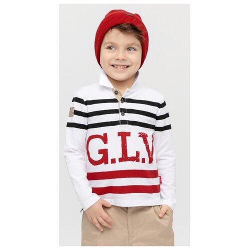 Купить Поло Gulliver размер 122, белый, Футболки и майки