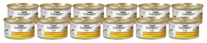 Корм для кошек Gourmet Gold Нежная начинка с тунцом, консервы (0.085 кг)