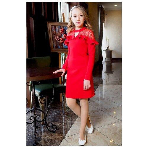 Платье Ladetto размер 40-158, красный платье oodji ultra цвет красный белый 14001071 13 46148 4512s размер xs 42 170