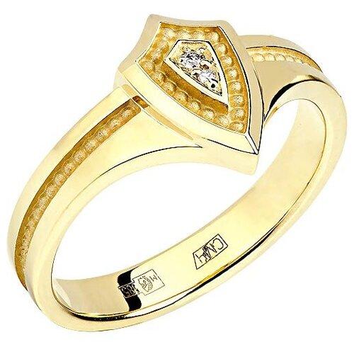 Эстет Кольцо с 2 бриллиантами из жёлтого золота 01К638749, размер 18