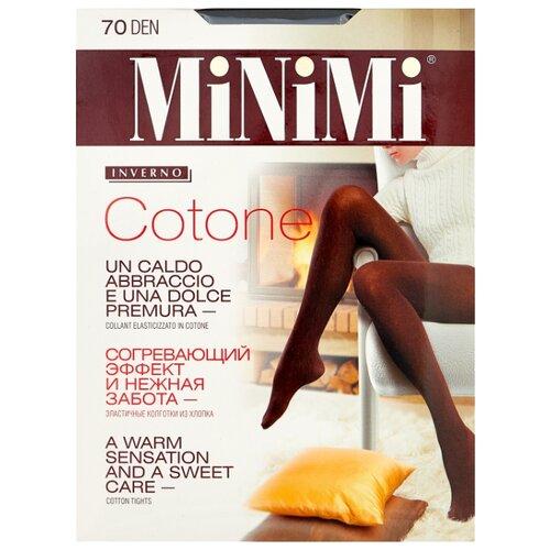 Колготки MiNiMi Cotone 70 den, размер 2-S/M, nero (черный) колготки minimi cotone 250 den размер 2 s m nero черный