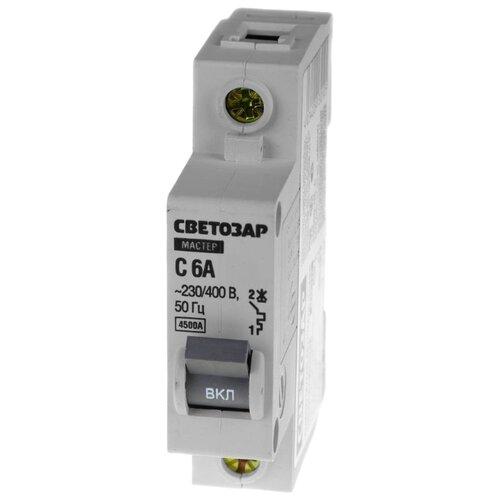 Автоматический выключатель СВЕТОЗАР 1P (C) 4,5kA 6 А