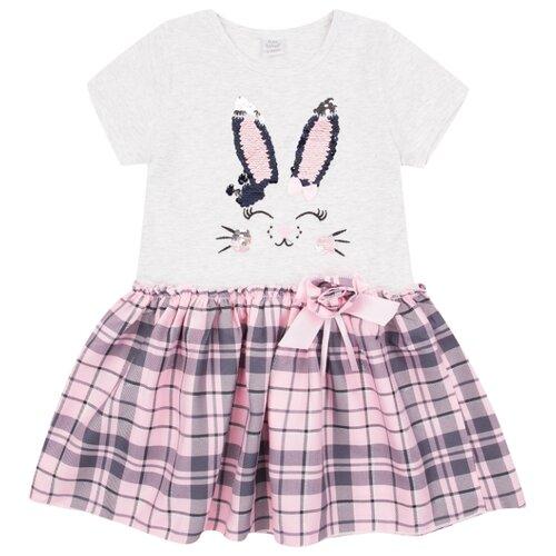 Купить Платье Fun time размер 86, белый/розовый, Платья и юбки