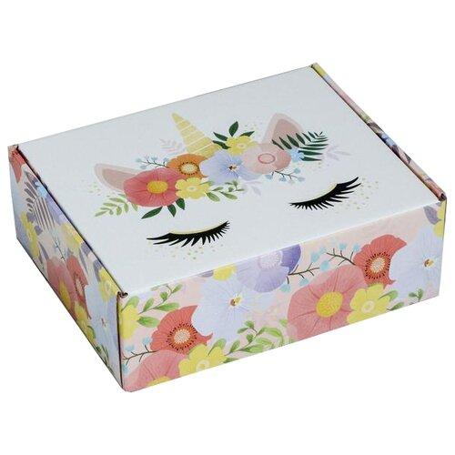 Коробка подарочная Дарите счастье Единорог 27 х 9 х 21 см разноцветный недорого
