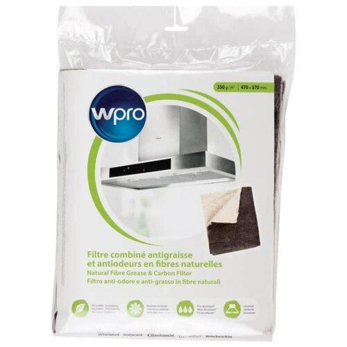Комбинированный фильтр WPRO для вытяжки 2 в 1 (жировой + угольный) универсальный