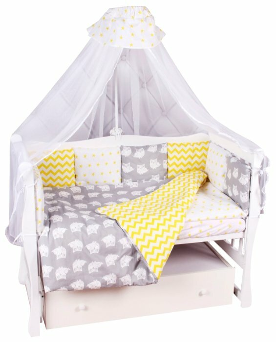 Amarobaby комплект в кроватку Совята (7 предметов)