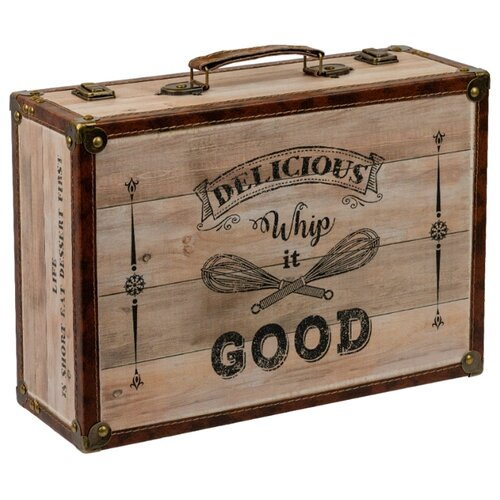 DBQ-01 декор. шкатулка чемоданчик 39 x 27 x 14 см №014