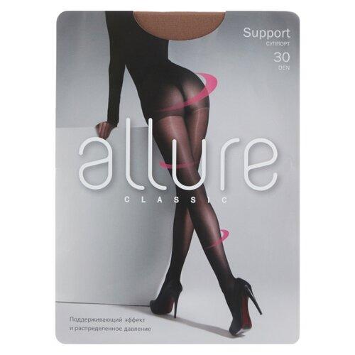 Фото - Колготки ALLURE Classic Support 30 den, размер 2, glase (золотистый) колготки allure classic support 30 den размер 5 glase золотистый