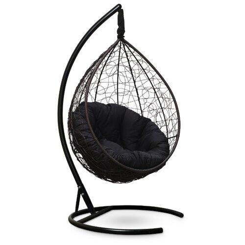 Подвесное кресло-кокон Laura Outdoor Sevilla Verde, коричневый/черный