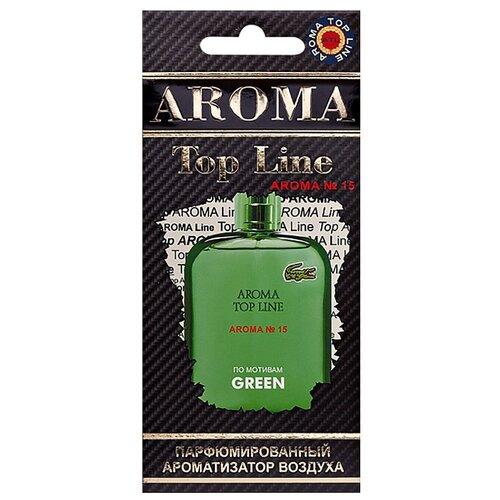 цена на AROMA TOP LINE Ароматизатор для автомобиля Aroma №15 Lacoste Green 14 г