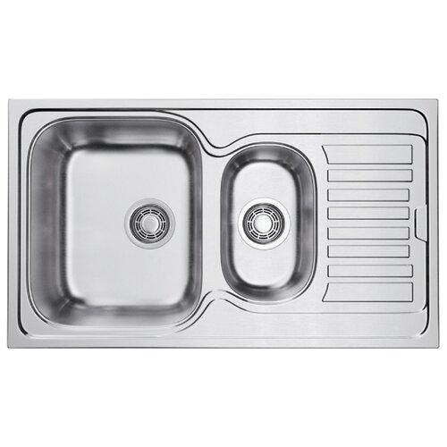 Врезная кухонная мойка 86 см OMOIKIRI Kashiogawa 86-2-IN нержавеющая сталь врезная кухонная мойка 86 см omoikiri akisame 86 in l нержавеющая сталь
