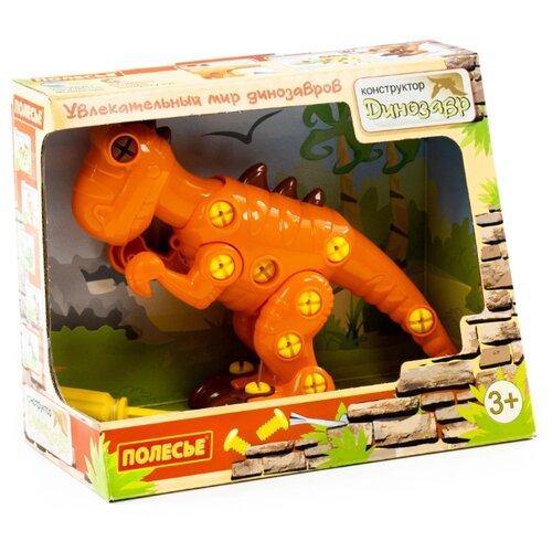 Купить Винтовой конструктор Полесье Динозавры 77158 Тираннозавр (в коробке), Конструкторы