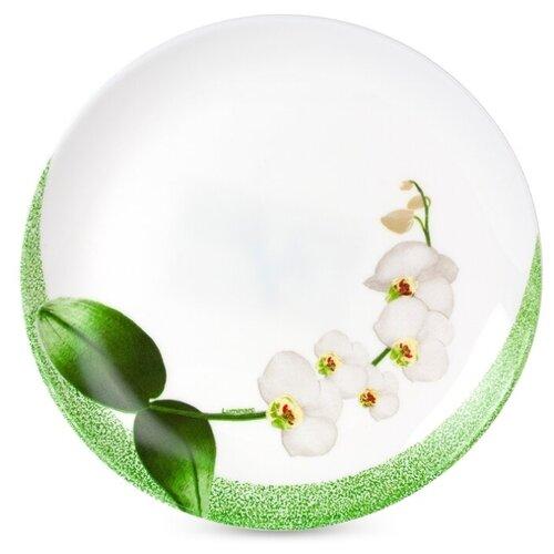 Luminarc Тарелка десертная White Orchid 21 см белый/зеленый luminarc тарелка десертная lavender 19 см белый