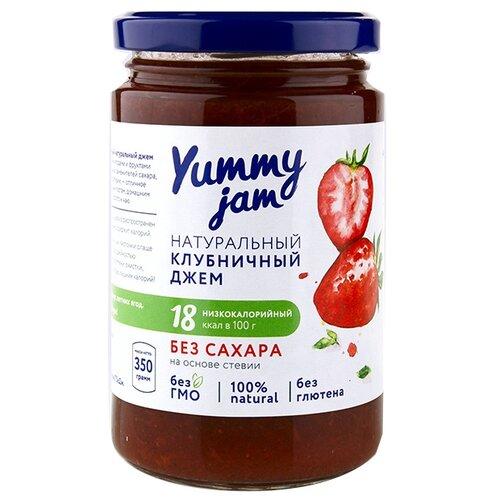Джем Yummy jam натуральный клубничный без сахара, банка 350 г