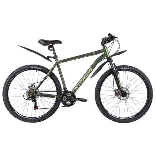 Горный (MTB) велосипед Stinger Caiman D 27.5 (2020) с крыльями зеленый 20 (требует финальной сборки) велосипед stinger 26 banzai 20 синий 26 sfv banzai 20 bl7