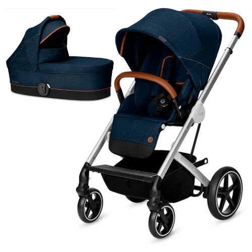 Универсальная коляска Cybex Balios S (2 в 1), с дождевиком denim/denim blue коляска прогулочная cybex balios s denim denim blue с дождевиком