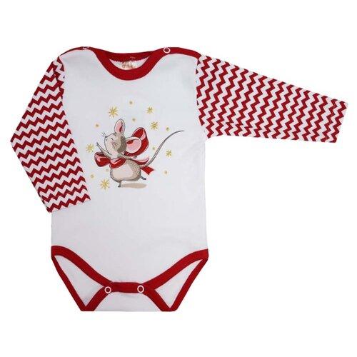 Боди KotMarKot размер 56, белый/красный боди для мальчика cherubino цвет красный cwn 4164 185 размер 56