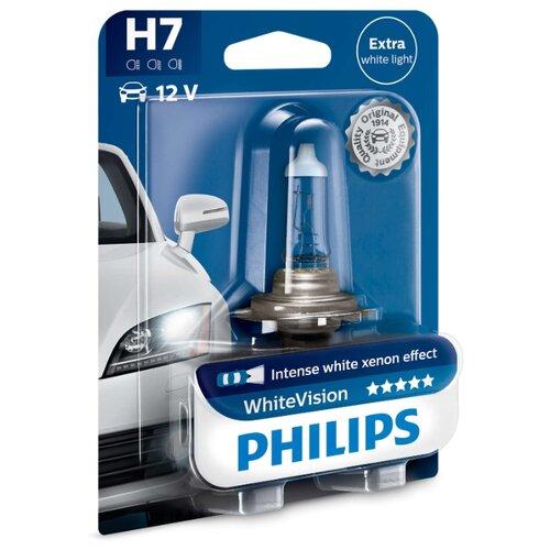 цена на Лампа автомобильная галогенная Philips WhiteVision 12972WHVB1 H7 12V 55W 1 шт.