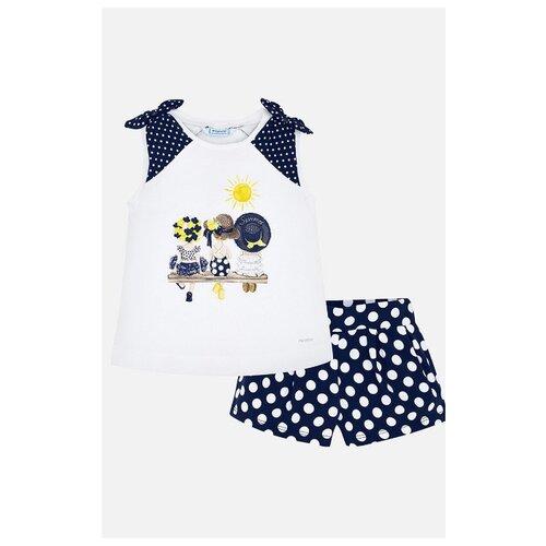 Купить Комплект одежды Mayoral размер 128, белый/синий, Комплекты и форма