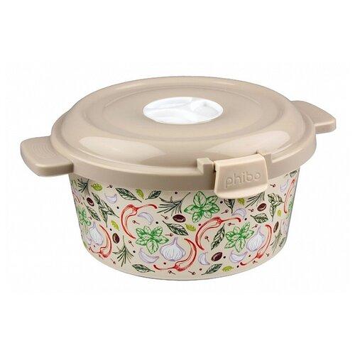 Phibo Емкость для холодильника и микроволновой печи с декором 1,6л (431107107) бежевый с рисунком