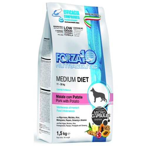 Сухой корм для собак Forza10 свинина с картофелем 1.5 кг (для средних пород)