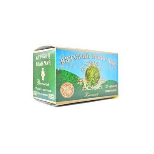 Чай травяной Вятский Иван-чай Весенний в пакетиках, 25 шт. чай травяной родной иван чай с чабрецом душистый в пакетиках 25 шт