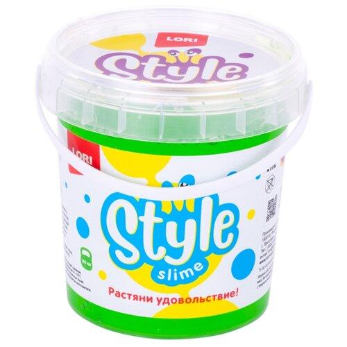 Купить Лизун LORI Style slime классический с ароматом яблока зеленый, Игрушки-антистресс