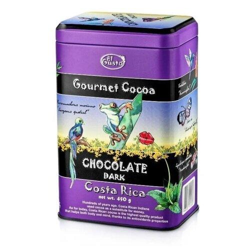 El gusto горячий шоколад Dark Costa Rica, банка, 450 г термокружка el gusto grano 113b blue 470 мл