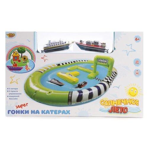 Набор катеров на р/у Наша Игрушка Забавные гонки, корабль 2 шт, аксессуары (M6646)
