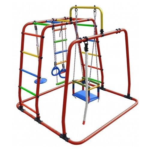 Купить Спортивно-игровой комплекс Формула здоровья Игрунок-Т Плюс красный/радуга, Игровые и спортивные комплексы и горки