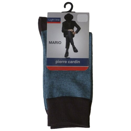 Носки Pierre Cardin Light line. Mario, размер 39-41, коричневый/бирюзовый