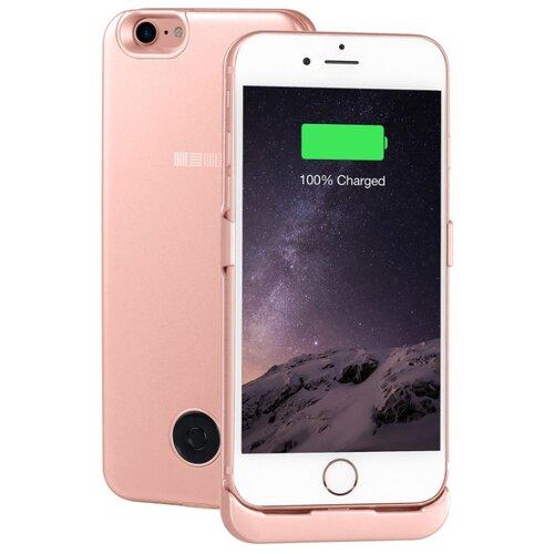 Купить Чехол-аккумулятор INTERSTEP Metal battery case для iPhone 7/8 rose gold