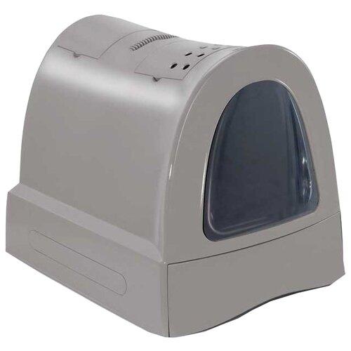 Туалет-домик для кошек Imac Zuma 40х56х42.5 см бежево-серый