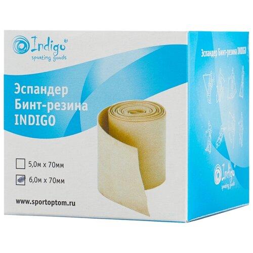 Эспандер лента Indigo бинт-резина (00018541) 600 х 7 см бежевый