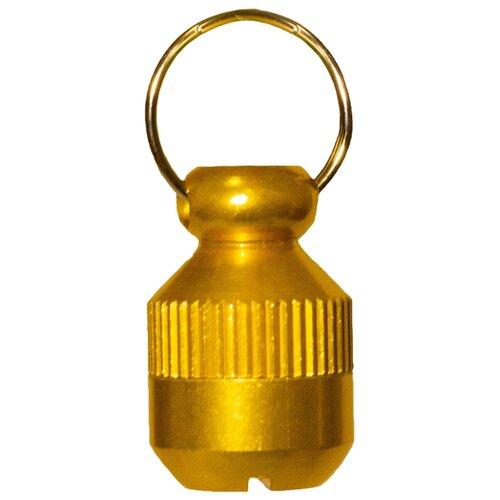 Адресник на ошейник Киспис капсула золотой