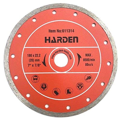 Диск алмазный отрезной 180x22.2 Harden 611314 1 шт.