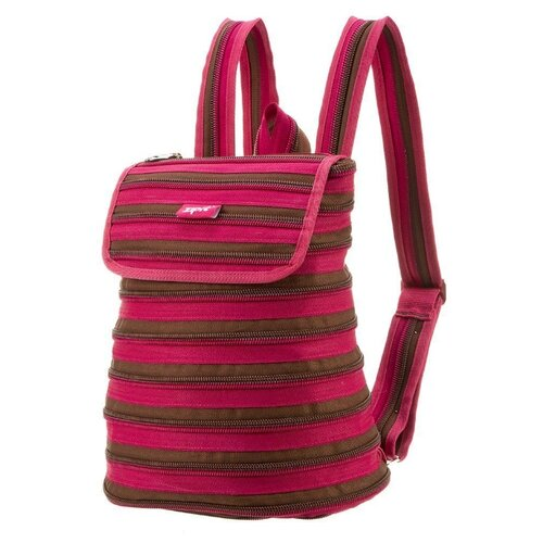 Рюкзак ZIPIT Zipper Backpack Fuchsia & Deep Brown