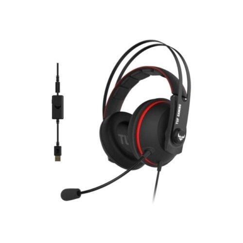 Компьютерная гарнитура ASUS TUF Gaming H7 черный/красный