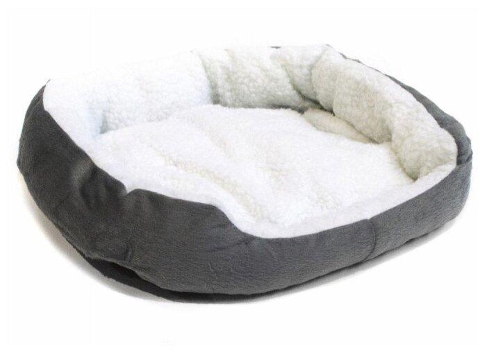 Купить Лежак для собак и кошек Удачная покупка P0012 45х40х11 см серый/белый по низкой цене с доставкой из Яндекс.Маркета (бывший Беру)