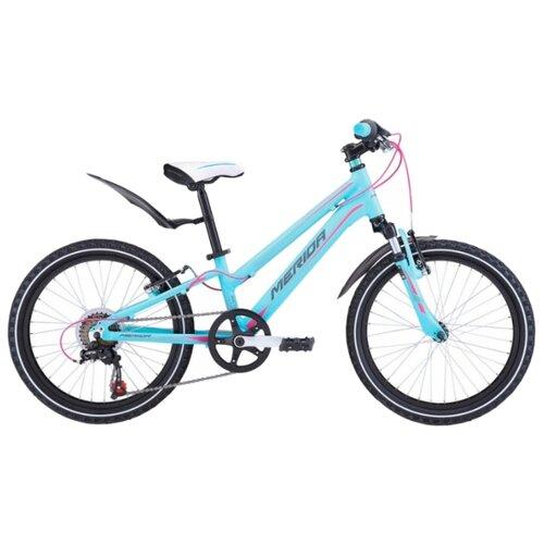 Подростковый горный (MTB) велосипед Merida Matts J20 Girl (2018) синий/розовый/серый (требует финальной сборки) велосипед merida espresso 300 eq 2018