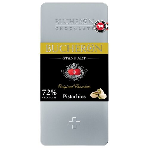 шоколад cemoi горький 72% какао 100 г Шоколад Bucheron Stand'art горький с фисташкой, 72% какао, 100 г