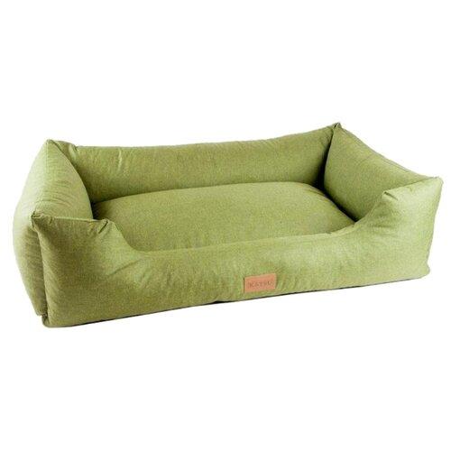 Фото - Лежак для собак и кошек Katsu Sofa Len S 60х44х21 см зеленый домик для собак и кошек katsu patchwork s 30х30х16 см лиловый