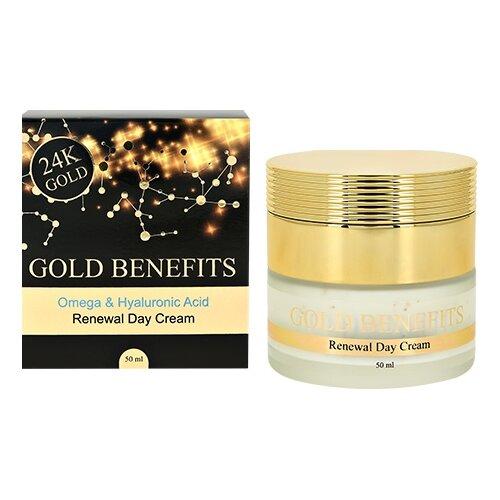 Gold Benefits Omega & Hyaluronic Acid Renewal Day Cream Обновляющий дневной крем для лица, 50 мл