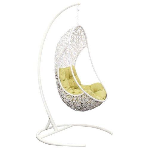 Подвесное кресло ЭкоДизайн Lite, белый/зеленый