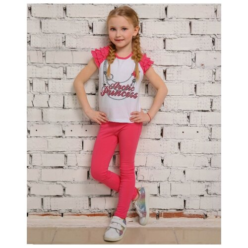 Комплект одежды looklie размер 98-104, белый/коралловый комплект одежды looklie размер 98 104 изумрудный