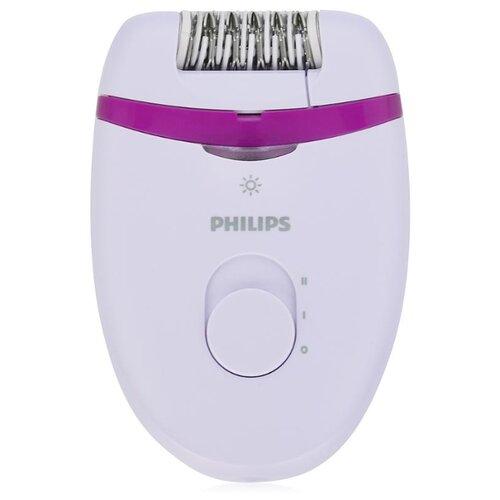 Эпилятор Philips BRE275 Satinelle Essential белый/фиолетовый