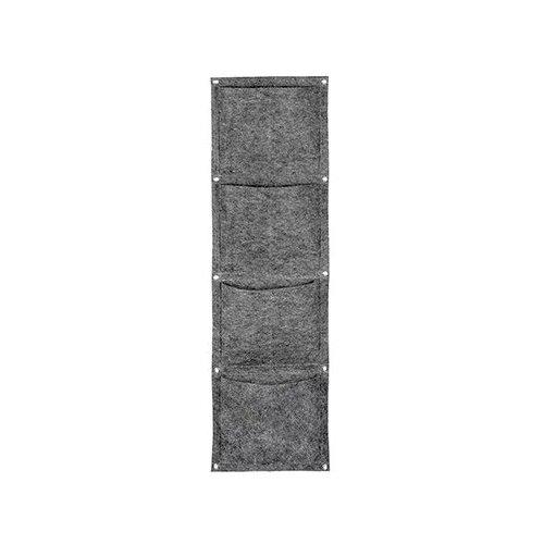 Qwerty Органайзер из фетра прямоугольный, 4 кармана серый