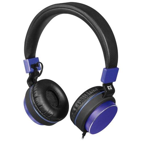 Наушники Defender Accord 165 черный/синий